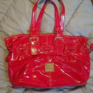 Dooney and Bourke Hot Pink Patent Leather Tote